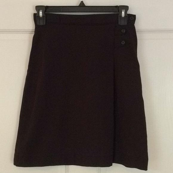 Lands' End Other - Lands' End 12 Slim Black Adjustable Waist Skirt